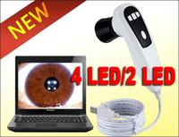 Wholesale 2014 NEW MP LED LED USB Eye Iris Iriskope Iridoscope IRISCOPE Iridology camera Pro Software