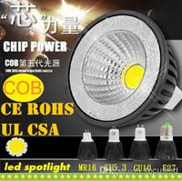 Wholesale 9W Dimmable GU10 E27 E26 E14 GU5 MR16 Led COB Spotlights Lamp lm Warm Natural Cool White Led Bulbs Light V V CE ROHS CSA UL