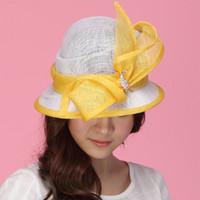 ladies dress hats - Vintage Women Dress Sinamay Hat Church Hat Sinamay Rose Sinamay Fabric Handmade Ladies Haircord Sinamay Hat Fashion