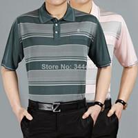Cheap Wholesale-Silk man's t shirtall silk men's T-shirt men's silk shirts