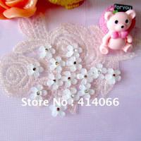 Wholesale mm White Flower Crystal Mobile phone DIY Decoration
