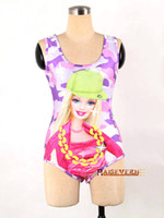 Cheap 2014 new spring fashion women Sexy swimwear barbie doll Galaxy cartoon women Black milk dress Swimsuit slim fit clothes