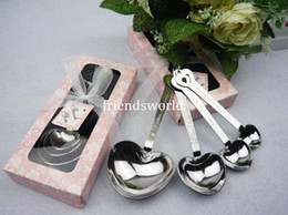 Free shipping Measuring Tools Kitchen Gadgets Love Beyond Measure Heart Measuring Spoons in Gift with Pink Box Wedding Favors