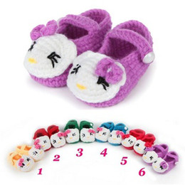 Wholesale 2014 Color Choices Cat Mary Jane Crochet Baby Shoes S023