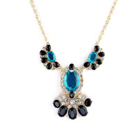 chunky jewelry - Fashion Chunky Jewelry Flower Design Colorful Rhinestone Shorts Women Necklace