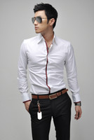 Cheap Hot Sale 2013 hot sale New men's Slim Fit Silk Sleeve Luxury Dress Shirts MF-025