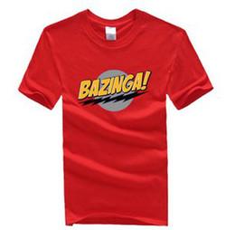 Wholesale The Big Bang Theory Bazinga Symbol Pattern Short Sleeve T Shirt Cotton S XXL color to choose