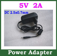 Wholesale 5V A mm Charger for Android Tablet PC Ampe A10 deluxe A90 Sanei N10 deluxe N90 Cube U18GT Q88 Ainol Venus Myth Power Adapter Supply