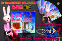 Wholesale DHL free Original RSIM Air Unlock Card IOS x x R Sim RSIM R SIM Air2 Unlock Iphone S C S Sprint iOS AT amp T T mobile