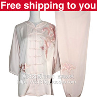 Wholesale Chinese Tai chi clothing taiji sword set morning performance suit phenix embroidery women children little boy girl collarless