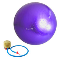 Wholesale New cm Yoga Ball Health Balance Pilates Fitness Gym Home Exercise Sport with Air Pump Pink Blue Purple Color