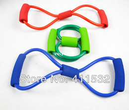 Free shipping Fitness Resistance Bands Latex Exercise Tubes Elastic Training Rope Yoga Pilates Sport equipment BN-5