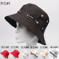 Red basin cap - 2014 New Summer Women and Men Foldable Sun Beach Hat Bucket Hat Basin Caps Rope Fishing Hat Colors