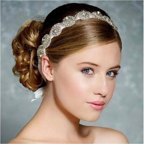 Awe Inspiring Silver Crystal Headbands Handmade Bridal Hair Accessories Vintage Short Hairstyles For Black Women Fulllsitofus