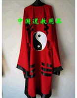 Wholesale Taoist priests supplies instruments robes uniforms clothing clothes Taiji Bagua yellow red and black vestments