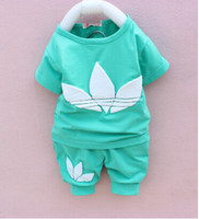 Cheap OMG New 2014 SUMMER brand 2 pieces suit set tracksuit children hoodies baby clothing set