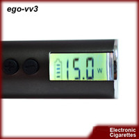 Cheap DHL Free Shipping electronic cigarette ego v v3 battery variable voltage battery 1300mah ego VV3 battery e cig battery ego vv3 battery