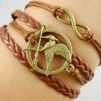 american birds - 2014 fashion Jewelry Braided rope Hunger Games laugh birds Infinity Synthetic Leather bracelet Multilayer Multicolor