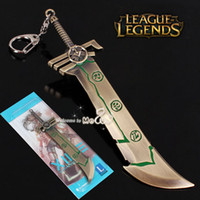 arms weapons - New Exquisite LOL Accessories League of Legends Weapon Keychains Redeemed Riven Sword Model Zinc Alloy Key Chains The Exile Arms Mewol L7