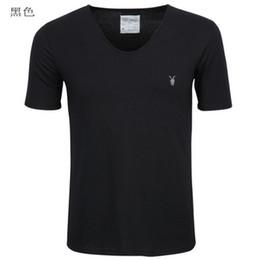 Wholesale hot sale All saints jixin ling male V neck slim male short sleeve t shirt plus size basic spring men s clothing