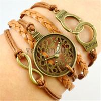 Cheap leather bangle bracelet Best time watch