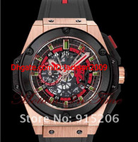 auto devil - Luxury Watch Big Chronograph Power Red Devil Gold OM MAN11 mm black rubber strap Sapphire world famous wristwatches