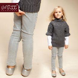 Wholesale Autumn new children s clothing girls leggings casual plaid pants boy pants feet pencil pants pants girl