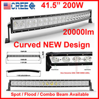 beam design - 41 quot W Curved CREE LED W Work Light Bar OffRoad SUV ATV WD x4 Spot Flood Combo Beam lm IP67 V JEEP Truck NEW Design