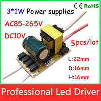 Wholesale 5pcs X1W w w E27 bulb lamp power supply built in constant current LED driver for LED DIY