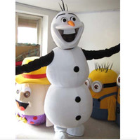 Cheap 100% Real Pictures! 2014 New Deluxe Frozen Snowman Olaf Mascot Costume Free Shipping!