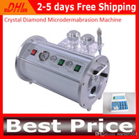 CE LB040 Max. -0.8 Atmospheric Pressure Beauty Salon 2 In 1 Portable Crystal Diamond Microdermabrasion Machine Skin Peeling Dermabrasion Equipment for Skin Rejuvenation Cleanning