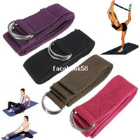 """Cheap Free Shipping 180cm 67"""" 6FT Yoga Stretching Stretch Strap D-Ring Pilates Belt Figure Waist Leg Fitness Exercise Gym Wholesale"""