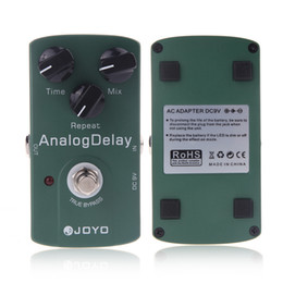 Wholesale Electronic New Joyo JF Analog Delay Electric Violao Guitarra Guitar Effect Pedal True Bypass Musical Instrument Parts I293