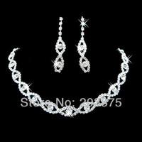 Wholesale Elegant Bridal Rhinestone Jewelry Set Women Bridal Accessories Wedding Evening Party Jewelry Sets