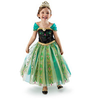 In Stock New Style Frozen Dress Snow Queen Princess Elsa Ann...