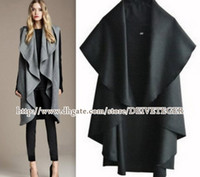 Wholesale DEIVE TEGER Hot Sale Women s Fashion Wool Coat Ladies Noble Elegant Cape Shawl ladies poncho wrap scarves coat