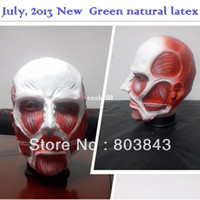 advanced party - Natural Latex Anime Figure Attack on Titan Mask for Carnival Party Halloween Advancing Titans Shingeki no Kyojin Cosplay