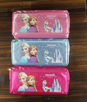 Fabric free shipping  2014 Frozen princess Elsa anna Pencil case Bag Red NEW Children Girl's Cartoon Fashion Pencil Bag
