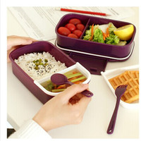 1 food box - 4 Colors Tier Japanese Bento Lunch Box Sushi Lunchbox Food Container Kitchen Accessories Tableware Microwave NEW FREESHIPPING