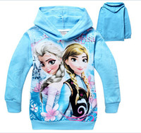 low price hoodies - LOW PRICE spring and autumn Froze Child Boys Hooded Long Sleeve children Hoodies cartoon top kids t shirts baby hoody coat two colors T
