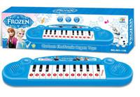 al por mayor musical toy organ-Los instrumentos musicales de juguete para los niños Muchacha congelada Cartoon órgano electrónico del teclado de piano del juguete del bebé con música electrónica 8 canción Juguete educativo