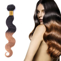 "Cheap Hot Fashion Remy Brazilian Human Hair Extensions Ombre Hair Weft 10""-26""Fast Shipping"