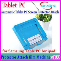 Wholesale DHL Remax Automatic Tablet PC Screen Protector Attach film Machine for Samsung Table PC for ipad YX AP