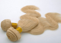 """Chinese Hair Natural Wave 100-400 Oxette Bleach Blond Brazilian Hair Body Wave 3Pcs or 4pcs Lots Human Virgin Hair Extensions Weave 12""""-30"""" Color #613"""
