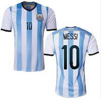 Soccer argentina apparel - Champion Argentina Home No Messi Soccer Jerseys New Style Home Soccer Uniform TOP Soccer Jerseys With Numbers Soccer Apparel Mix Order