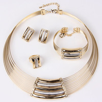 Wholesale fashion african costume women jewellery set k gold plated vintage party jewelry sets