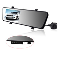 Cheap 4.3' TFT LCD 6000A Car DVR with GPS G-sensor Rearview Mirror Camera Recorder DVR Dual Lens HD 1920x1080p Rear view camera 720P