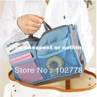 Wholesale with online tracking number High Quality Lady s Organizer Cosmetic Bags Pockets Storage bag in bag organizer