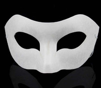 paper face mask - Party White Half Face Mask Halloween blank paper Zorro Mask DIY Hip Hop mask Hand painted masks Christmas gifts