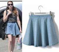 Cheap american apparel ZhouDongYu European style AA Ding Jing same paragraph put on a large waist denim skirt sheds